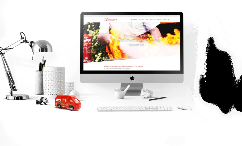 mediadesign linke portfolio - webdesign für die Brandschutz Dortmund