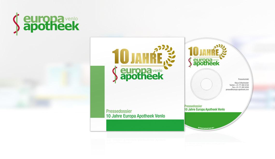 mediadesign linke portfolio - CD Case Hülle für die europa apotheek venlo
