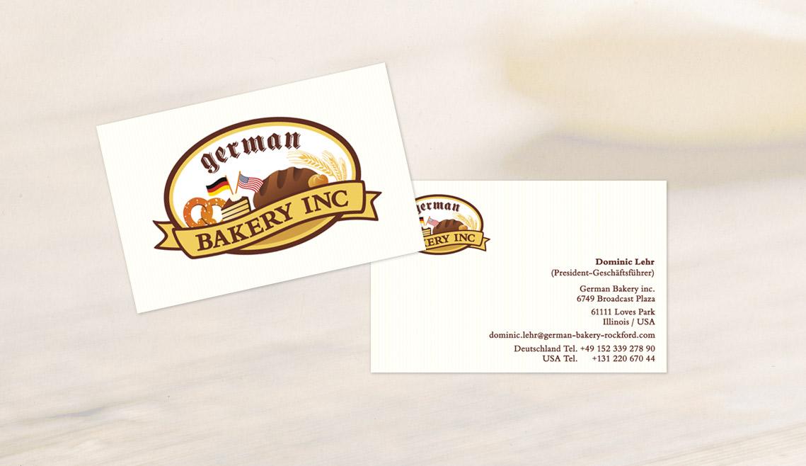 mediadesign linke portfolio - Visitenkarten für die German Bakery