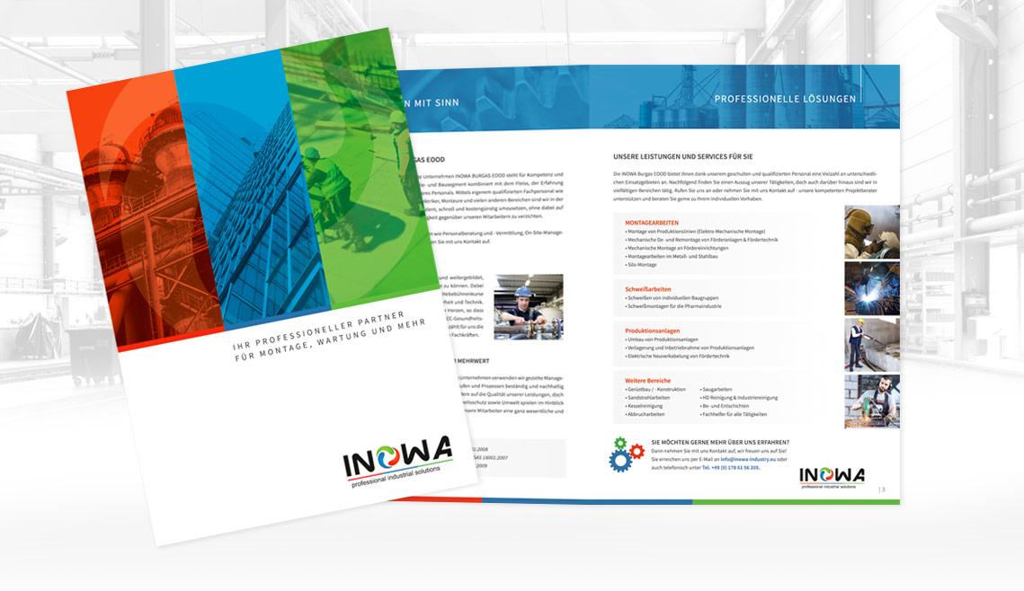 mediadesign linke portfolio - Flyergestaltung Inowa