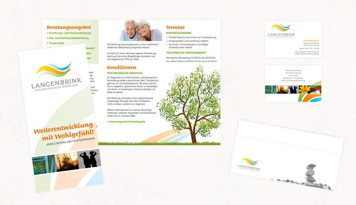 mediadesign linke portfolio - Flyer für die Psychologische Beratung Langebrink
