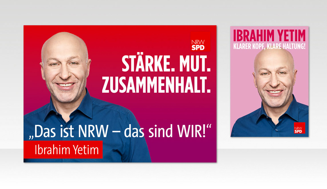 mediadesign linke & Netzwerk Kommpakt - Plakat Design für Ibrahim Yetim - SPD NRW