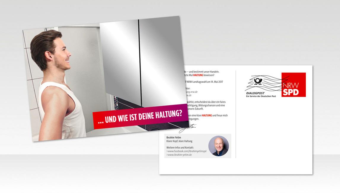 mediadesign linke & Netzwerk Kommpakt - Postkarten Design für Ibrahim Yetim - SPD NRW