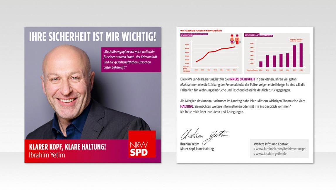 mediadesign linke & Netzwerk Kommpakt - Flyer Design für Ibrahim Yetim - SPD NRW