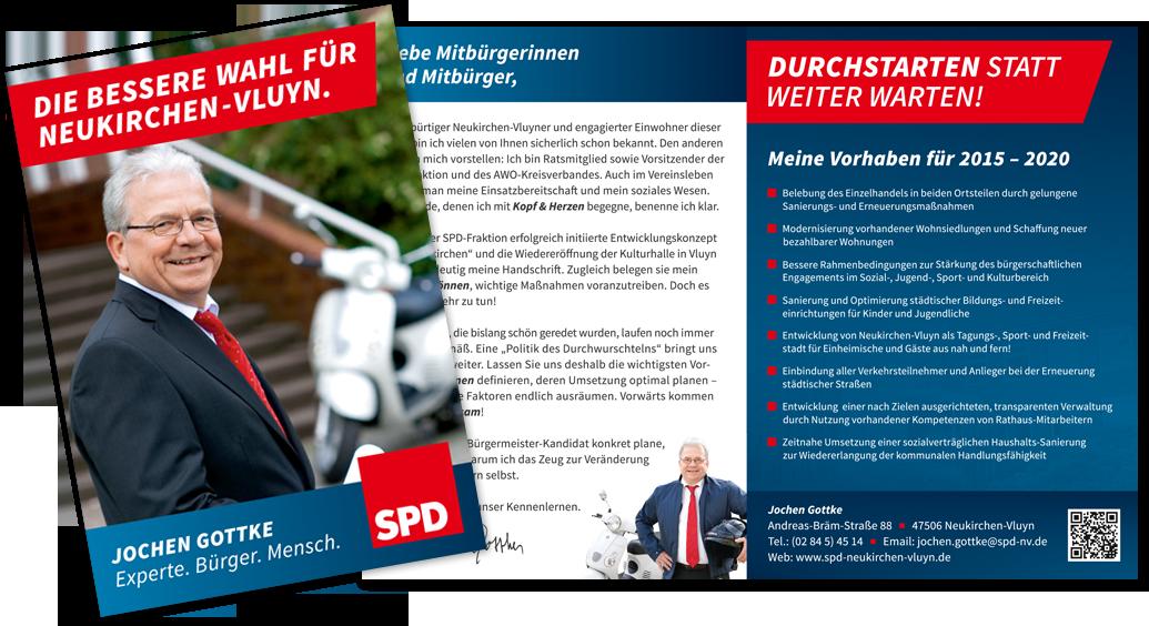 SPD Neukirchen-Vluyn Bürgermeisterwahl 2015 Plakat und Website