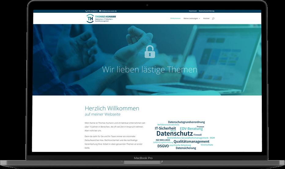 mediadesign linke portfolio - Thomas Humann Service-essen.de   Logogestaltung, Webdesign, Printmedien Gestaltung von Flyer und Visitenkarten sowie Briefbogen
