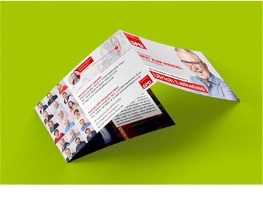 mediadesign linke Flyer Design - Gestaltung von Printmedien mit Beispiel eines Flyers für die SPD Neukirchen-Vluyn