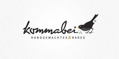 Logo Design | Logodesign Kommabei Handgemachtes und Rares