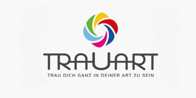 Logo Design | mediadesign linke Logoentwicklung / Logodesign TRAUART Essen - Trau dich ganz in deiner Art zu sein. Trauerberatung Essen