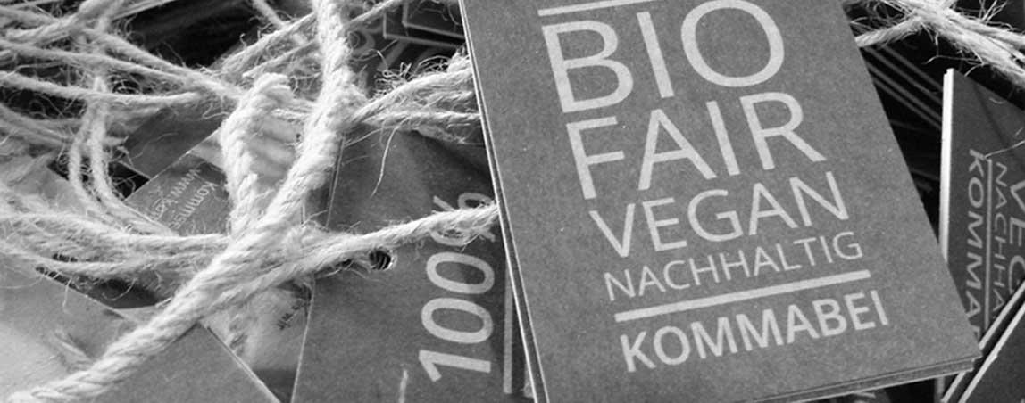 mediadesign linke - Kommabei Banner Design Bannererstellung für Webshop Onlineshop Bio Vegan Nachhaltig