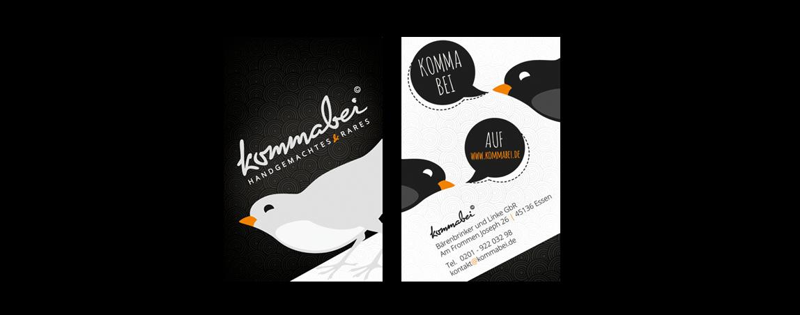 mediadesign linke - Kommabei Visitenkarten Gestaltung und Design