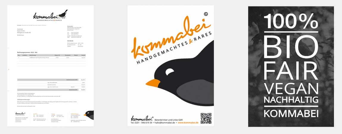 mediadesign linke - Kommabei Gestaltung und Design Printmedien Aufsteller