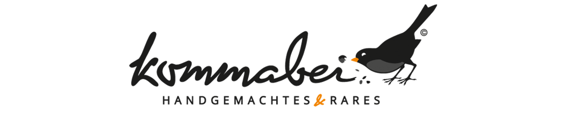 mediadesign linke - logodesign und logoentwicklung Kommabei Webshop www.kommabei.de