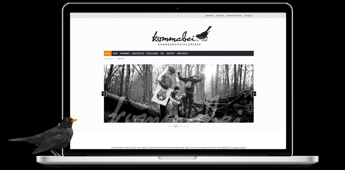 mediadesign linke | Webdesign aus Essen - Kommabei Webshop Onlineshop Gestaltung, Styling per CSS und html