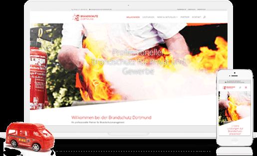 mediadesign linke portfolio - webdesign / neuer responsiver Internetauftritt für die Brandschutz Dortmund - Brandschutzprävention Karl-Heinz Sprigade