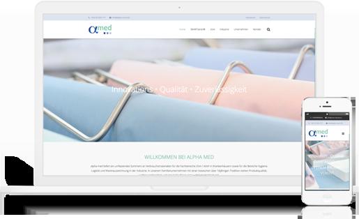 Webdesign / Webseite gestalten mit mediadesign linke in Essen - alpha med - Smarttainer und andere Verbrauchsmaterialien