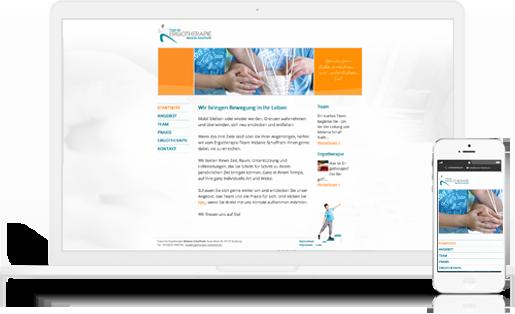 Webdesign / Webseite gestalten mit mediadesign linke in Essen - Ergotherapie Melanie Schaffrath Duisburg Meiderich