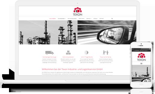 Webdesign / Webseite gestalten mit mediadesign linke in Essen - Texon Industrieservice / Logistikservice