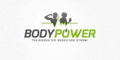 Logo Design | mediadesign linke Logoentwurf für Bodypower - Trainieren Sie gegen den Strom!