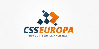 Logo Design | mediadesign linke Logoentwicklung CSS Europa - Rundum-Service nach Maß