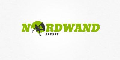 Logo Design | mediadesign linke Logoentwurf für die Nordwand Kletterhalle in Erfurt