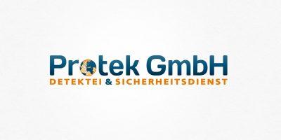 Logo Design | mediadesign linke Logoentwicklung Protek GmbH - Detektei- und SIcherheitsdienst in Essen