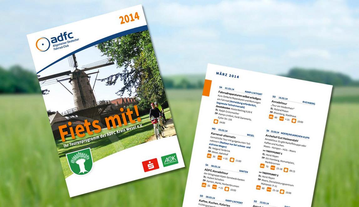 mediadesign linke - portfolio - Fiets mit! - ADFC Jahresmagazin 2015 - Teilausschnitt aus dem Jahresmagazin