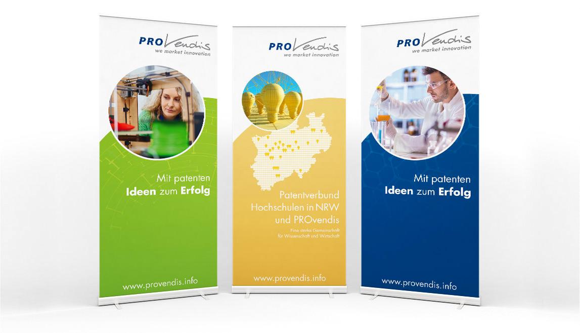 mediadesign linke portfolio - PROvendis GmbH Mülheim - Bannerwerbung / Banner Grafiken