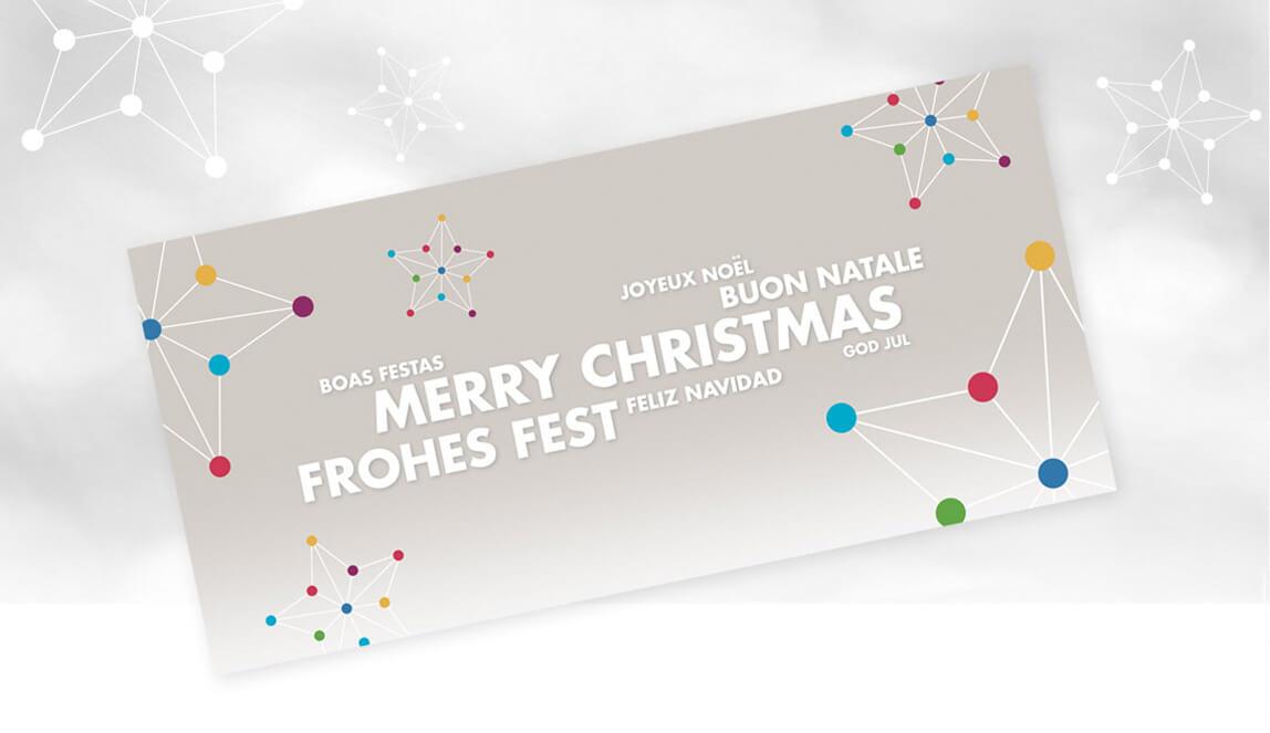 mediadesign linke portfolio - PROvendis GmbH Mülheim - Gestaltung einer Weihnachtskarte
