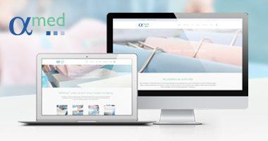 Webseite gestalten | mediadesign linke webdesign - responsive Internetseite für die alpha med GmbH in Mönchengladbach