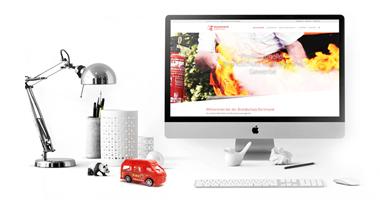 Webdesign / Webseite gestalten mit mediadesign linke in Essen - neue Internetseite für Brandschutz Dortmund