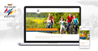 Webdesign / Webseite gestalten mit mediadesign linke in Essen - neuen Webauftritt für einen Teilabschnitt der Oranierfahrradroute