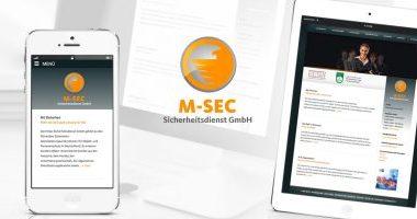 Webseite gestalten | Webdesign von mediadesign linke für M-SEC Sicherheitsdienst GmbH