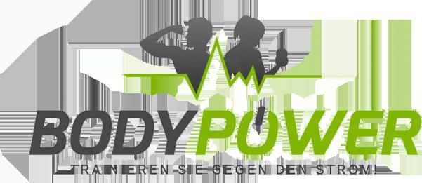 mediadesign linke Logoentwurf / Logodesign für Bodypower - Trainieren Sie gegen den Strom!