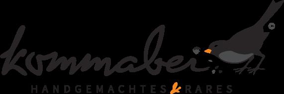 Logoentwicklung / Logodesign mediadesign linke für kommabei - handgemachtes und rares