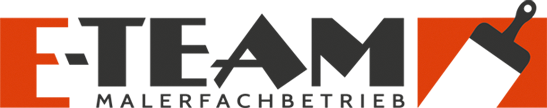 mediadesign linke Logoentwicklung Logodesign E-TEAM Malerfachbetrieb