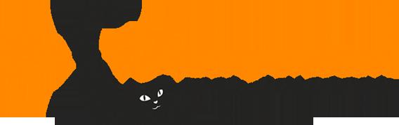 mediadesign linke Logoentwicklung / Logodesign für die Katzenpension Andrea Viehl