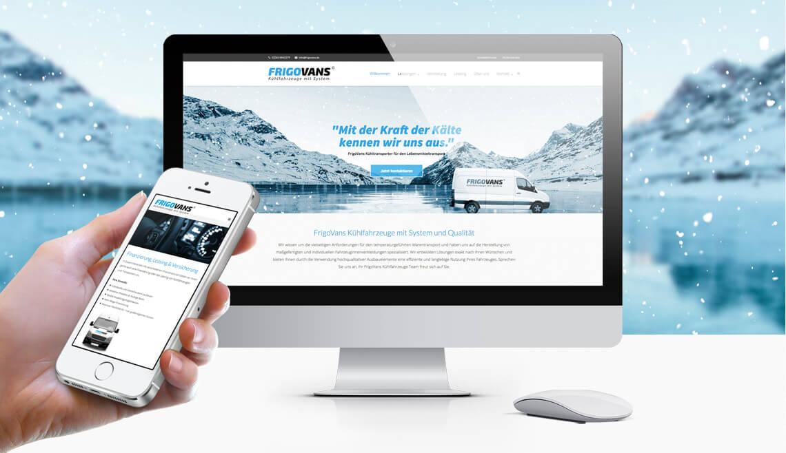 mediadesign linke - webdesign, Umsetzung und Programmierung für Frigovans Kühlfahrzeuge