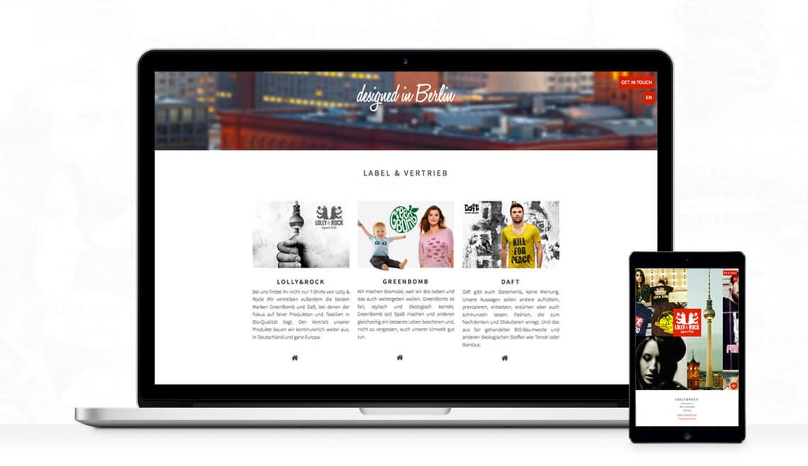 Webdesign aus Essen von mediadesign linke - webseite design gestaltung für lolly and rock / lolly&rock