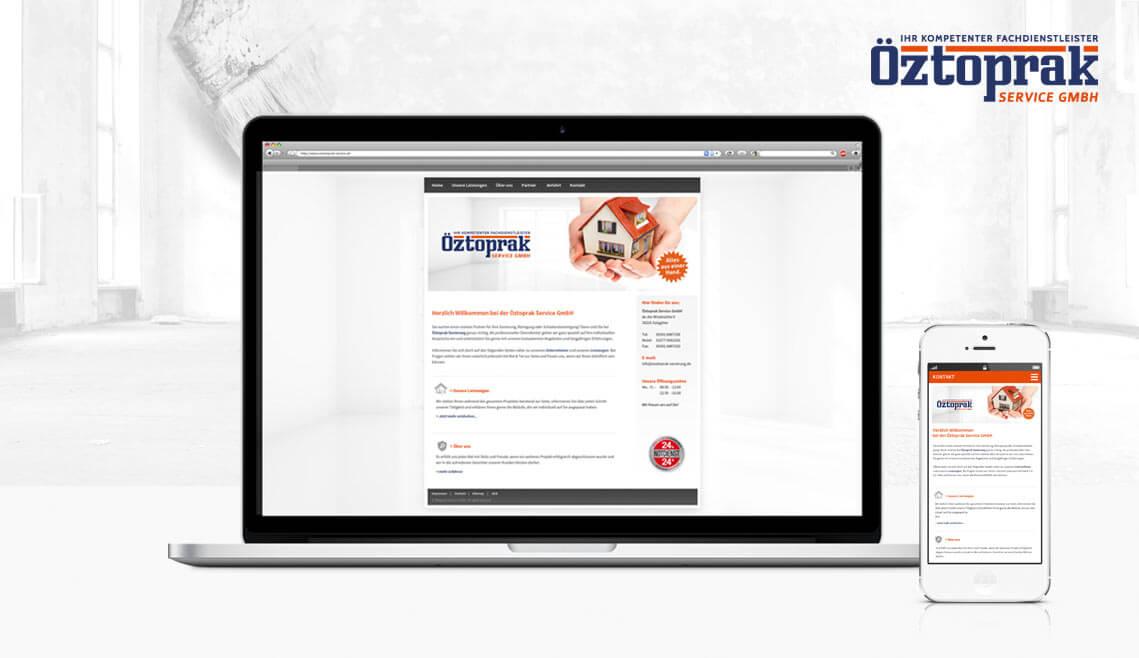 Webprojekt Öztoprak Service GmbH - Erstellung einer neuen responsiven Internetseite für http://www.oeztoprak-service.de/