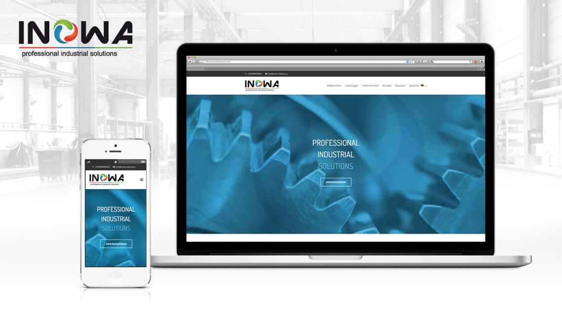 mediadesign linke webdesign portfolio - webdesign / Website-Umsetzung für die INOWA Burgas EOOD