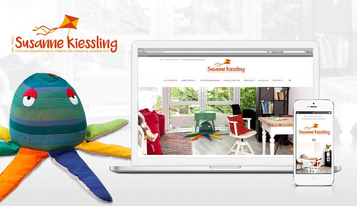 mediadesign linke - Gestaltung und Realisation Webseite für die Psychotherapie Susanne Kiessling in Bochum - Psychotherapeutische Praxis für Kinder und Jugendliche